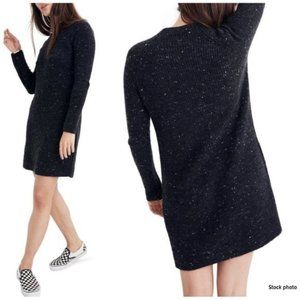 """MADEWELL Grey """"Donegal"""" Mockneck Sweater Dress, S"""